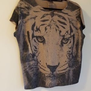 Short Sleeved Tiger Sweater